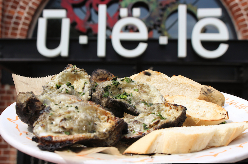Charbroiled Oysters with Ulele front door background
